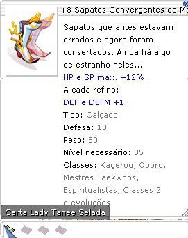 +8 Sapatos Convergentes da Magia Plena Selada