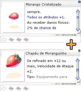 Combo Chapéu de Moranguinho [1] + Morango Cristalizado [1]