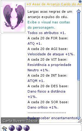 +9 Asas de Arcanjo Caído do Atirador Encantamento 6/5/4