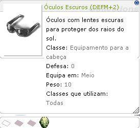 Óculos Escuro [1] (DEFM+2)