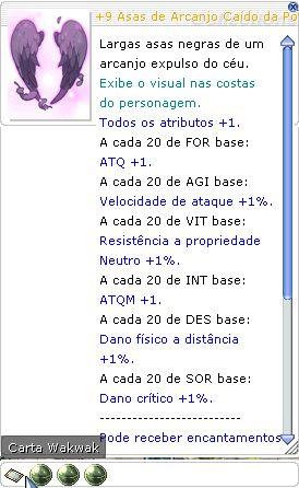 +9 Asas de Arcanjo Cáido da Pôtencia Lutador 4/4/5