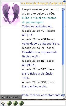 +9 Asas de Arcanjo Caído de Balder  Fatal 4/3/2