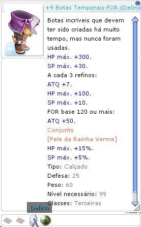 +9 Botas Temporais FOR (Delírio ) LUTADOR 7