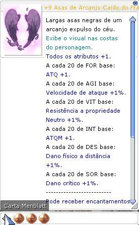 +9 Asas de Arcanjo Caído do Franco Atirador Mira 3/3/3