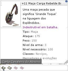 +11 Maça Carga Rebelde Bi