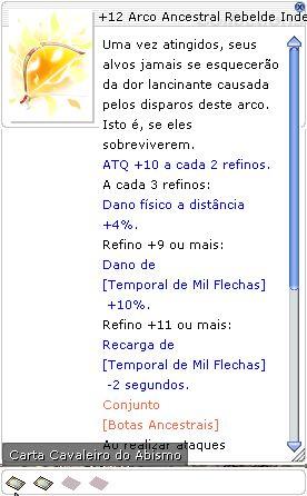 +12 Arco Ancestral Rebelde Indestrutível