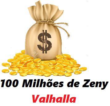 100 milhões de Zeny - 100 kks ( Ragnarok Valhalla )