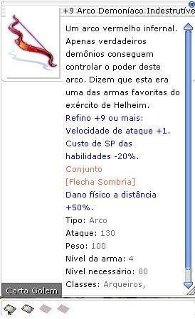 +9 Arco Demoníaco Indestrutível Rebelde