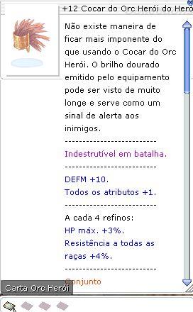 +12 Cocar do Orc Herói do Herói