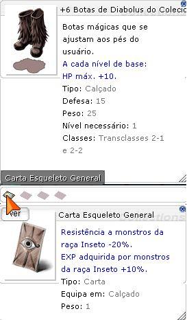 +6 Botas de Diabolus do Colecionar de Insetos