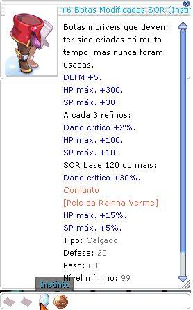 +6 Botas Modificadas SOR ( Instinto MA 4 )