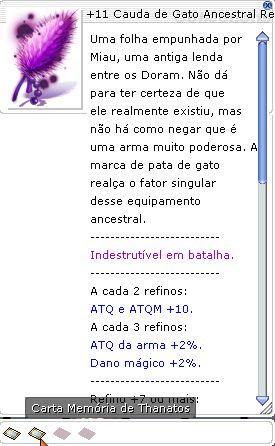 +11 Cauda de Gato Ancestral do Cavaleiro do Impacto