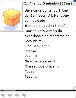Cx Anel do Ganhador 15 Dias