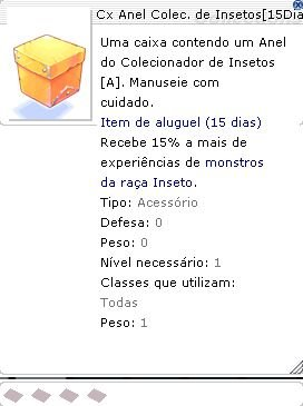 Cx Anel Colec. de Insetos 15 Dias