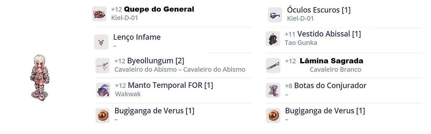 SET Sicário Full Impacto / Lâmina Sagrada / Quepe General TOP
