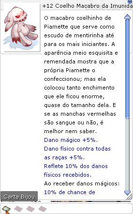 +12 Coelho Macabro da Imunidade