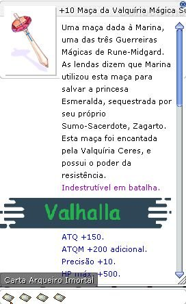 +10 Maça da Valquíria Mágica Super Ciclonal Quád
