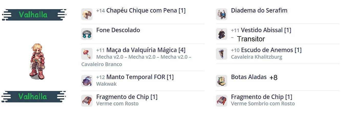 SET Mecânico Canhão MVP PVM / MAÇA VALK / Serafim