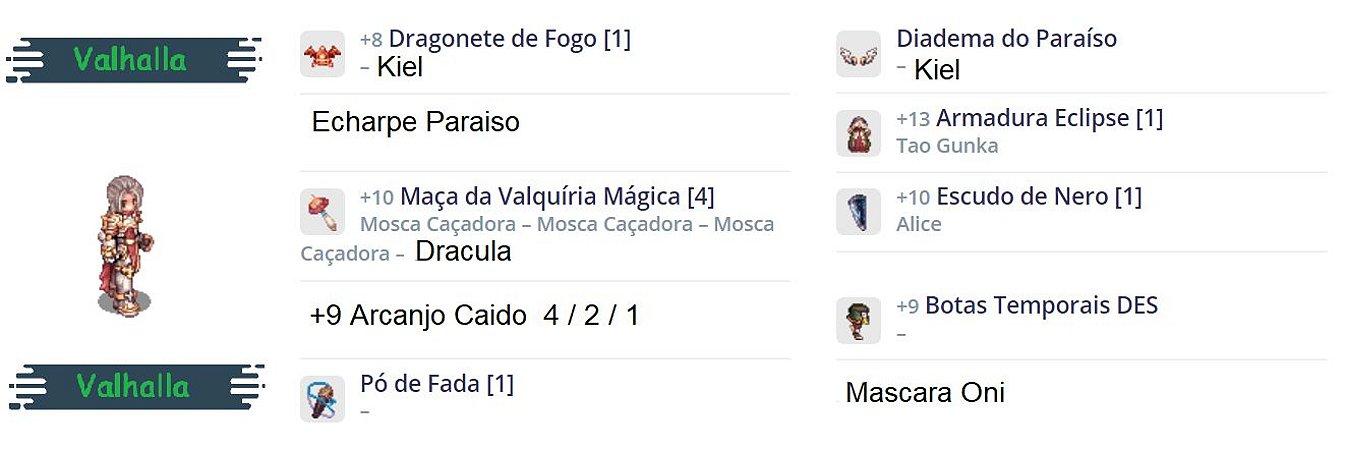 SET Cavaleiro Rúnico   Sopro / Dragonete / TG / KIEL / TOP