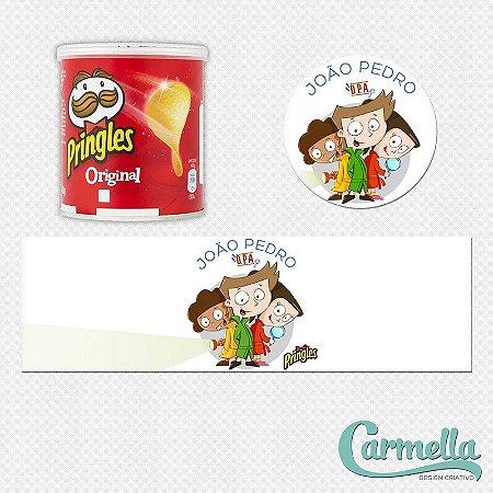 Adesivo para mini lata de Pringles Detetives do Prédio Azul - 12 unidades