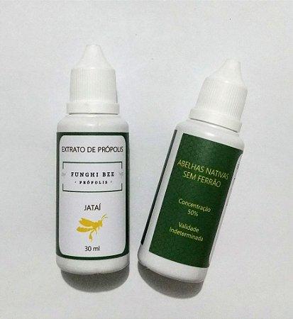 Extrato de Própolis de Abelha Nativa Jataí 30 ml