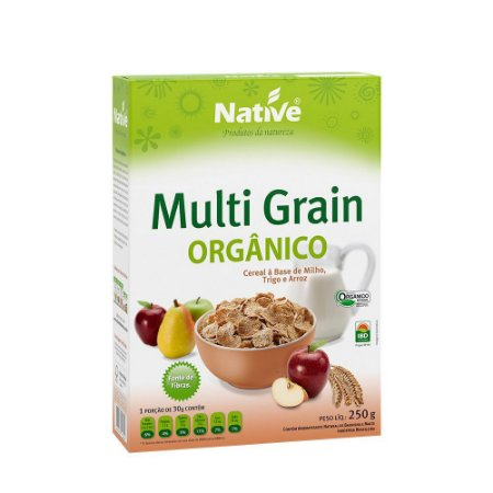 DELICIOSO CEREAL ORGÂNICO NATIVE MULTI GRAIN 250G