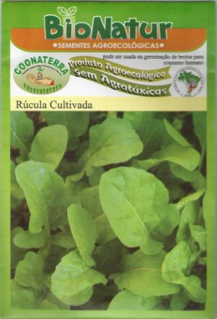 Semente Orgânica De Rúcula Cultivada Bionatur 3 gr