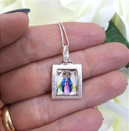 Colar Nossa Senhora das Graças - Prata 925