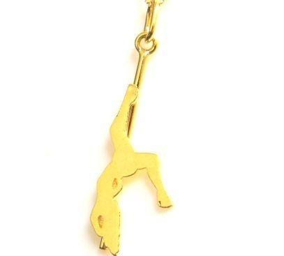Colar Pole Dance - Prata com banho ouro amarelo