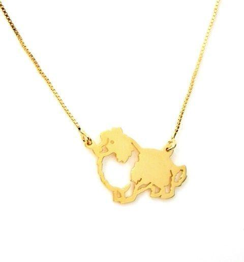 Coleção Pet -Border Collie - em prata 925 com banho ouro amarelo