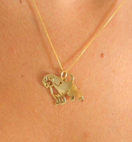 Colar Beagle - Prata 925 com banho ouro amarelo