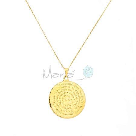 Colar Medalha Ave Maria