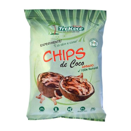 Chips de Coco Assado 100% Natural 25g - Cx 10 unidades