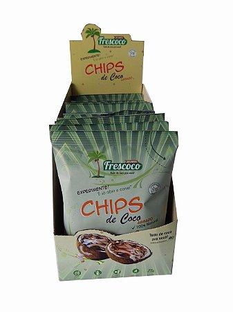 Chips de Coco Assado 100% Natural 25g - Cx 20 unidades