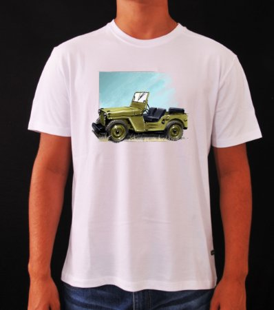 CAMISETA PREMIUM JEEP WILLYS VERDE