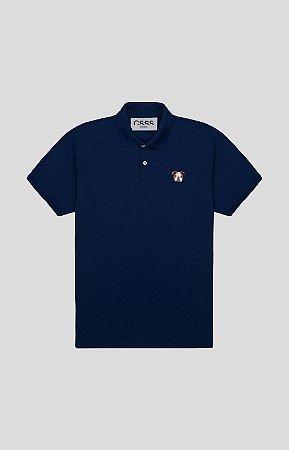 Camisa Polo Slim Marinho Bulldog