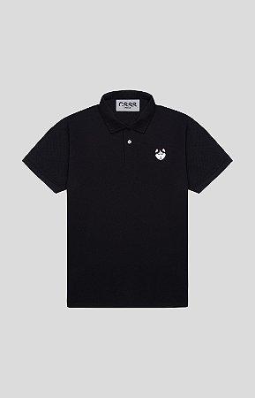 Camisa Polo Slim Preta Husky