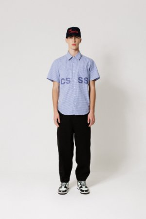 Camisa Vichy Manga Curta Azul CSSS