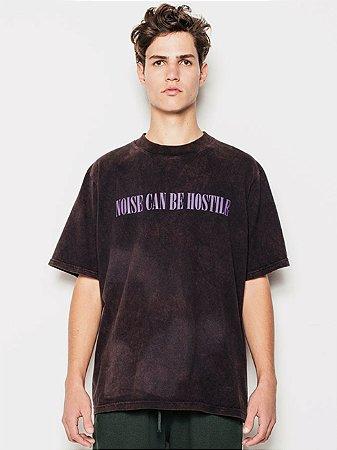 Piet Camiseta Noise Preta Manchada