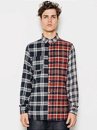 Piet Camisa Patchwork Flannels Xadrez