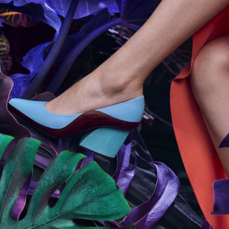 Sapato Scarpin Azul Choix