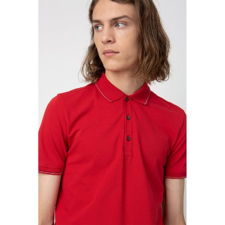 CAMISA POLO VERMELHA HUGO BOSS