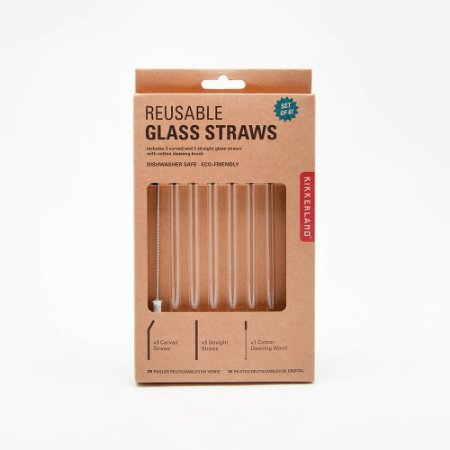 GLASS STRAWS KIKKERLAND