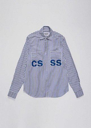Camisa listras azul
