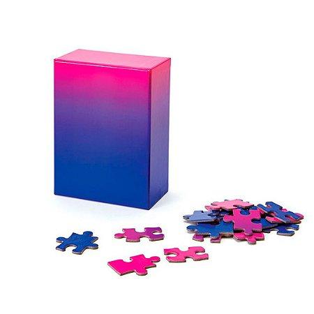 Gradient Puzzle Pequeno - 100 peças (Pink/Blue)