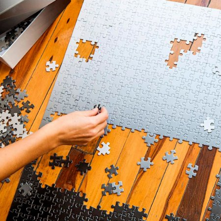 Gradient Puzzle - 500 peças (Black/White)