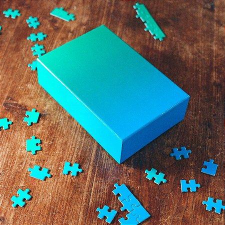 Gradient Puzzle - 500 peças (Green/Blue)