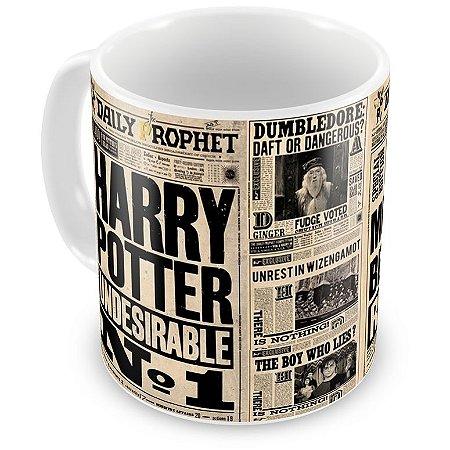Caneca Personalizada Porcelana Harry Potter Jornal Profeta Diário (Mod.1)
