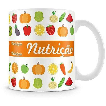 Caneca Personalizada Porcelana Profissão Nutrição