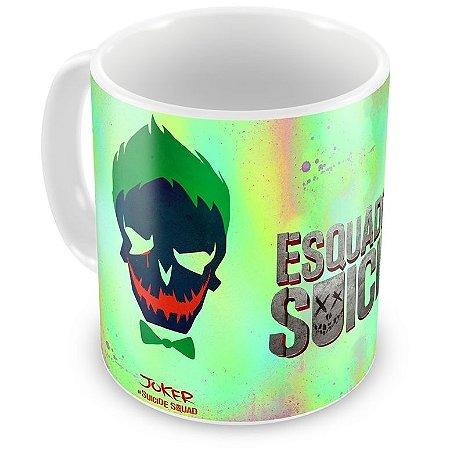 Caneca Personalizada Porcelana Coringa Esquadrão Suicida
